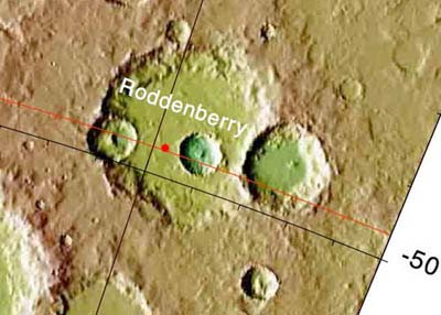 Roddenberry Crater