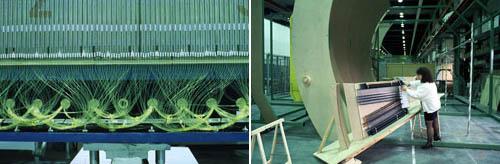 左:ATLAS;右:CMS探测器一个部分的1:1比例模型
